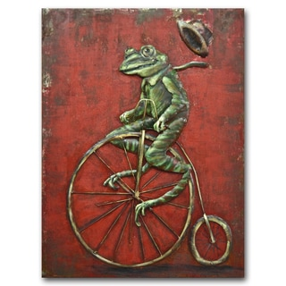Benjamin Parker 'Riding High' 24 x 31-inch Raised Metal Wall Art