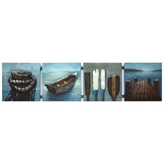 Benjamin Parker 'Lake Life' 12-inch x 49-inch Raised Metal Wall Art