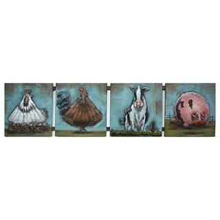 Benjamin Parker 'Farm Life' 12-inch x 49-inch Raised Metal Wall Art