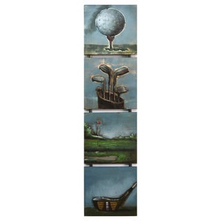 Benjamin Parker 'On the Green' Raised Metal 12-inch x 49-inch Wall Art