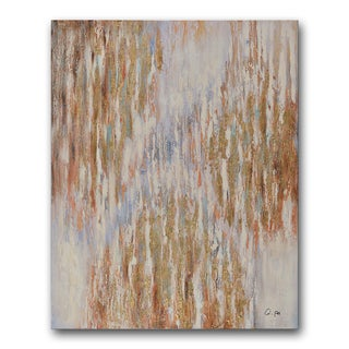 Benjamin Parker 'Gilded' 40-inch x 50-inch Hand-embellished Painting Print Wall Art
