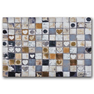 Benjamin Parker 'Heart and Soul' Canvas 20-inch x 30-inch Hand-embellished Wall Art