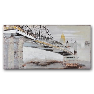 Benjamin Parker 'Apparition Bridge' 24-inch x 48-inch Hand-embellished Painting Print Wall Art