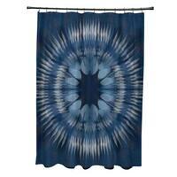 Shibori Burst Geometric Print Shower Curtain