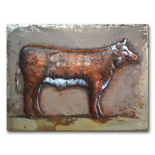 Benjamin Parker 'Beef Diagram' Raised Metal 30-inch x 39-inch Wall Art
