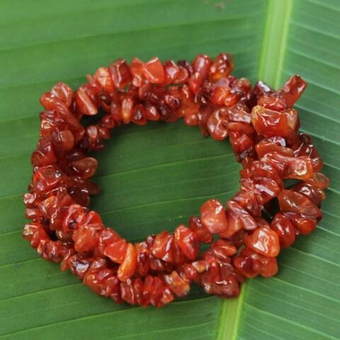 Handmade Set of 3 Agate 'Caramel Incantation' Bracelets (Brazil)