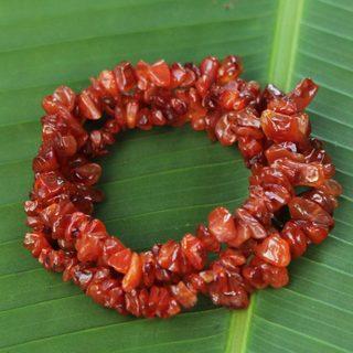 Set of 3 Handmade Agate 'Caramel Incantation' Bracelets (Brazil)