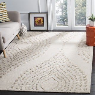 Safavieh Handmade Bella Abstract Sand / Brown Wool Rug (4' x 6')
