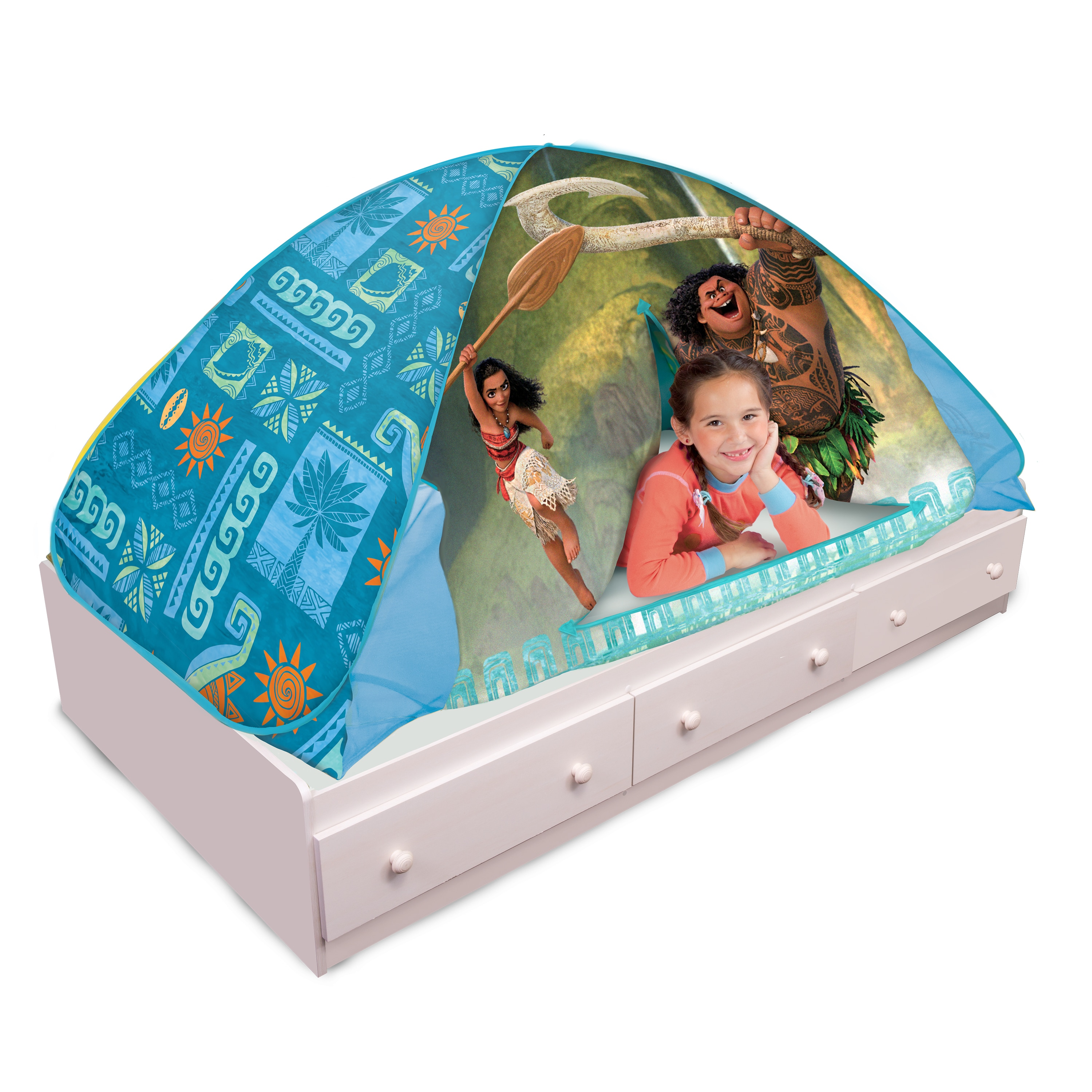 save off 00586 dcedb Play Hut Moana 2-in-1 Bed Tent