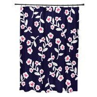 Valentines Floral Holiday Floral Print Shower Curtain