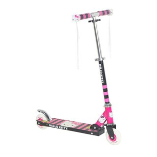 Hello Kitty Black and Pink Light-up Folding Scooter