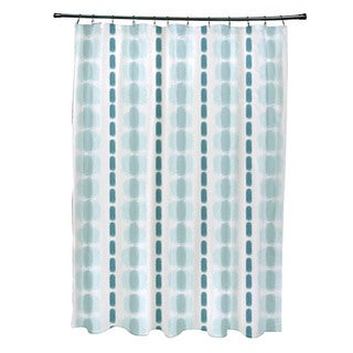 Watercolor Stripe Stripe Print Shower Curtain