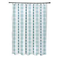 Watercolor Stripe Stripe Print Shower Curtain