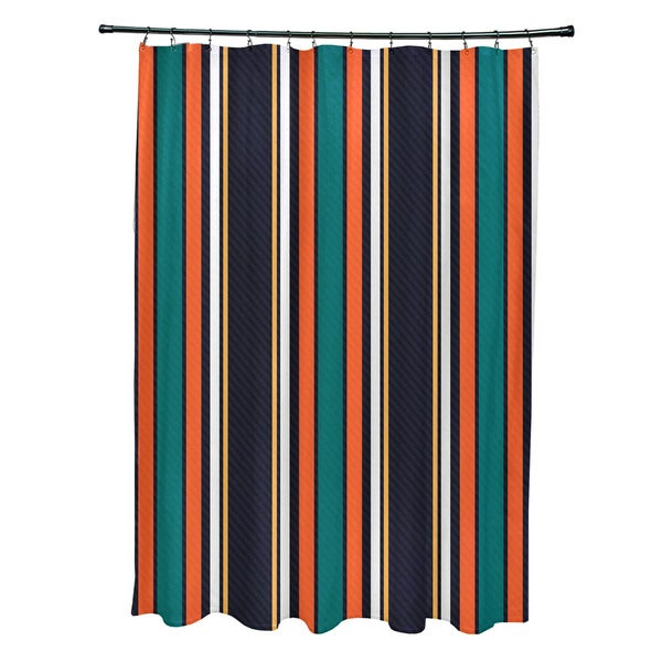 Multi-Stripe Stripe Print Shower Curtain