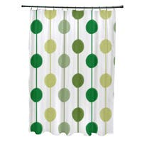 Brady Beads Stripe Print Shower Curtain