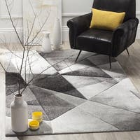 Safavieh Porcello Modern Abstract Light Grey/ Charcoal Rug - 2'7 x 5'