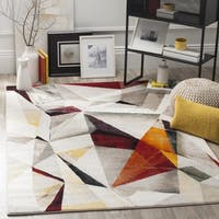 Safavieh Porcello Modern Abstract Light Grey/ Orange Rug - 2'7 x 5'