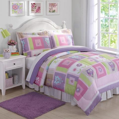 My World Happy Owls 3-piece Comforter Set - Multi