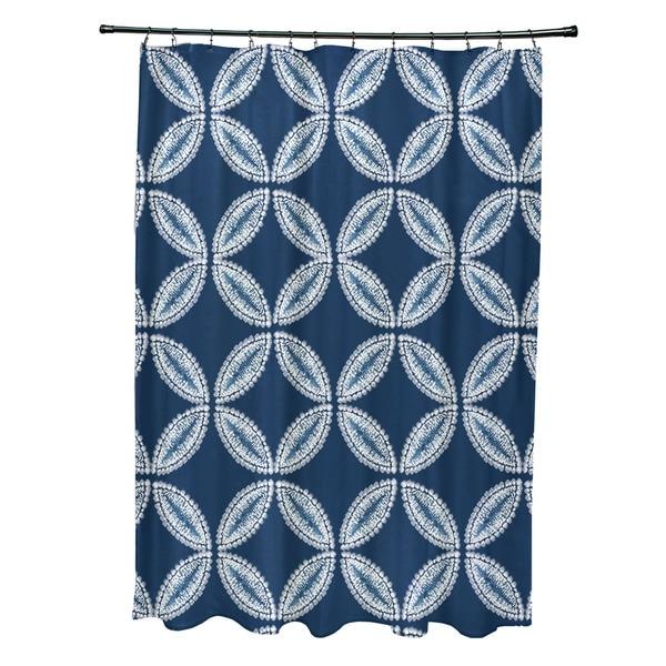 Tidepool Geometric Print Shower Curtain