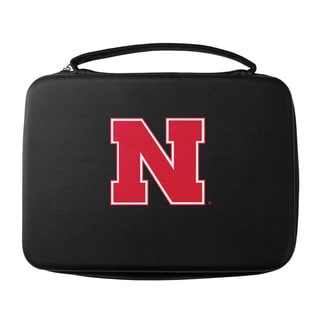 Sikiyou NCAA Nebraska Cornhuskers Black Sports Team Logo GoPro Carrying Case