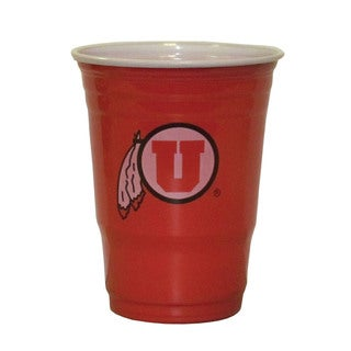 Siskyou NCAA Utah Utes Red Plastic Sports Team Logo Game Day Cups