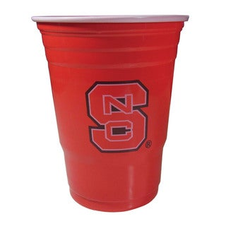 Siskiyou NCAA North Carolina State Wolfpack Red Plastic Sports Team Logo Game Day Cups (Case of 18)