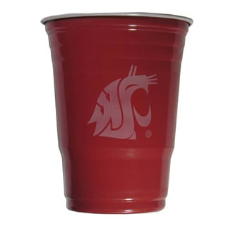 NCAA Washington State Cougars Sports Team Logo Plastic Game Day Cups