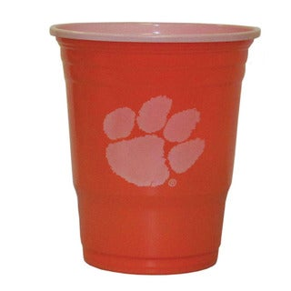 NCAA Clemson Tigers Sports Team Logo Plastic Game Day Cups