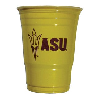 Siskyou NCAA Arizona State Sun Devils Yellow Plastic Sports Team Logo Game Day Cups