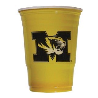 Siskiyou NCAA Missouri Tigers Sports Team Logo Plastic Game Day Cups