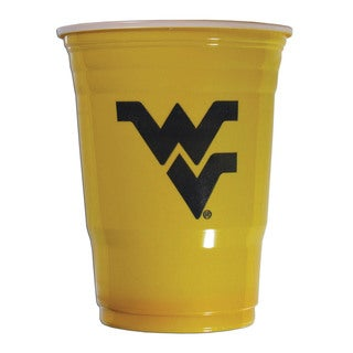 Siskyou NCAA West Virginia Mountaineers Yellow Plastic Sports Team Logo Game Day Cups