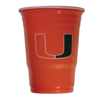 NCAA Miami Hurricanes Sports Team Logo Plastic Game Day Cups