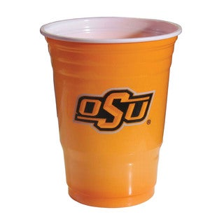 NCAA Oklahoma State Cowboys Sports Team Logo Plastic Game Day Cups