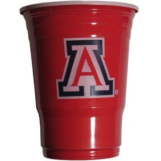 NCAA Arizona Wildcats Sports Team Logo Plastic Game Day Cups