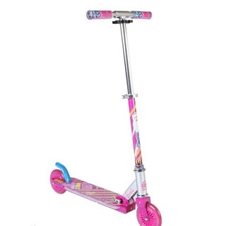 Barbie Pink Aluminum Folding Scooter With LED Deck