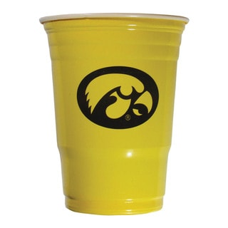 NCAA Iowa Hawkeyes Sports Team Logo Plastic Game Day Cups (Set of 18)