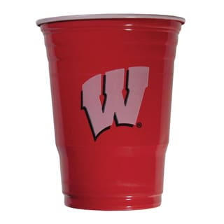 NCAA Wisconsin Badgers Sports Team Logo Game Day Plastic Cups