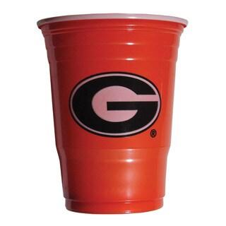 NCAA Georgia Bulldogs Sports Team Logo Plastic Game Day Cups