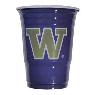NCAA Washington Huskies Purple Plastic Game Day Cups