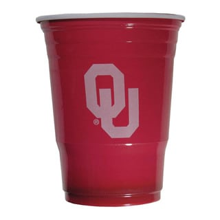 NCAA Oklahoma Sooners Plastic Sports Team Logo Game Day Cups (Sleeve of 18)