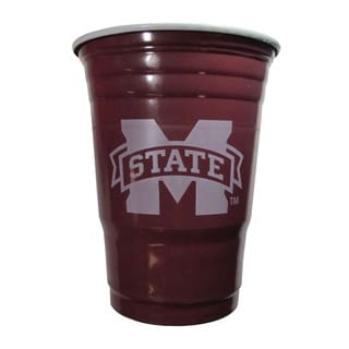 Siskiyou NCAA Mississippi State Bulldogs Logo Plastic Game Day Cups (Pack of 18)