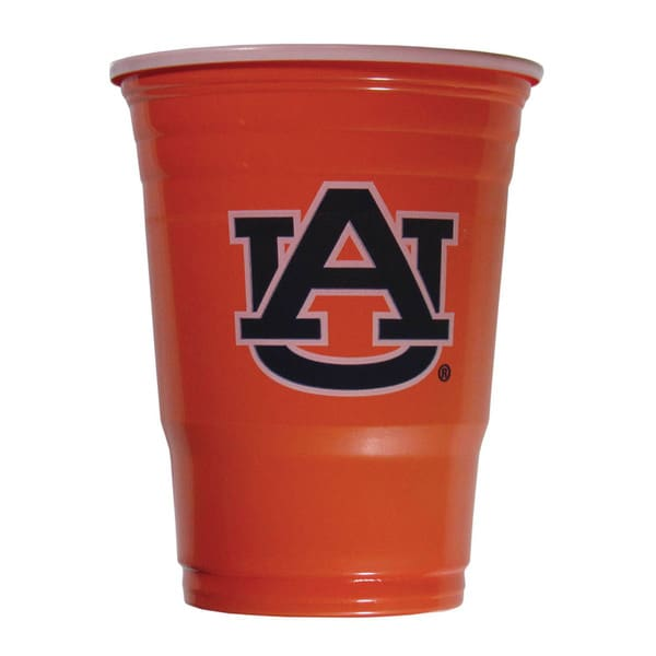 NCAA Auburn Tigers Sports Team Logo Plastic Game Day Cups