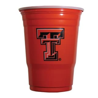 NCAA Texas Tech Raiders Sports Team Logo Plastic Game Day Cups
