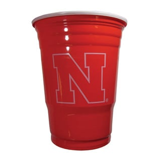 NCAA Nebraska Cornhuskers Sports Team Logo Plastic Game Day Cups