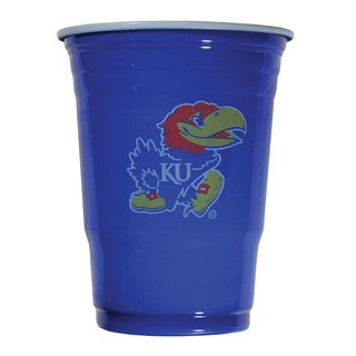 NCAA Kansas Jayhawks Sports Team Logo Game Day Plastic Cups