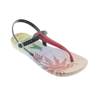 Ish Women's Summer Mexico Red and Brown PVC Sandal Sandals Summer Shoes