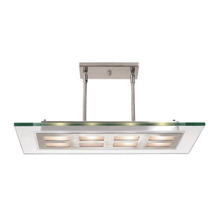 Access Lighting Aquarius 8-light Brushed Steel Pendant