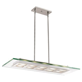 Access Lighting Aquarius 10-light Brushed Steel Pendant