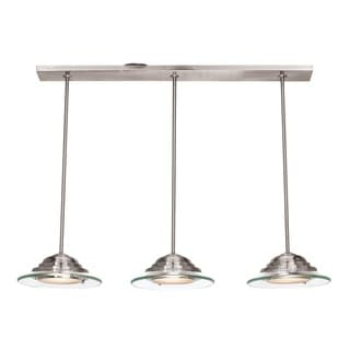 Access Lighting Phoebe 3-light Brushed Steel Pendant