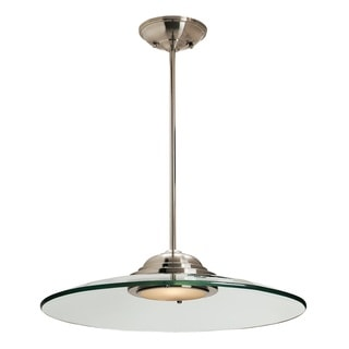 Access Lighting Phoebe 1-light Brushed Steel 19-inch Pendant